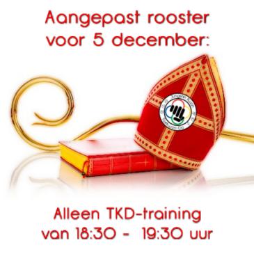 Sinterklaas: aangepast rooster